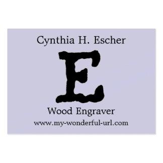 Inicial indicada con letras del estilo de la letra tarjetas de negocios