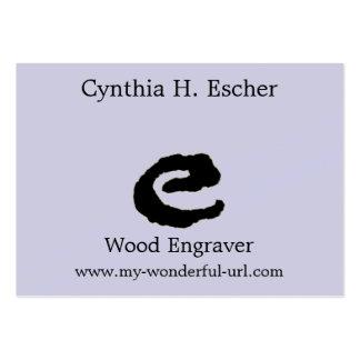 Inicial indicada con letras del estilo de la letra tarjeta de visita