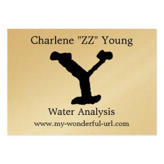 Inicial indicada con letras del estilo de la letra plantilla de tarjeta personal