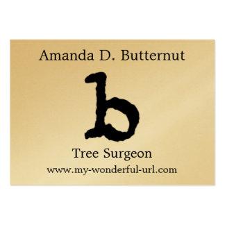 Inicial indicada con letras del estilo de la letra tarjetas de visita