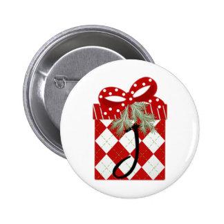 Inicial J del regalo del navidad Pin