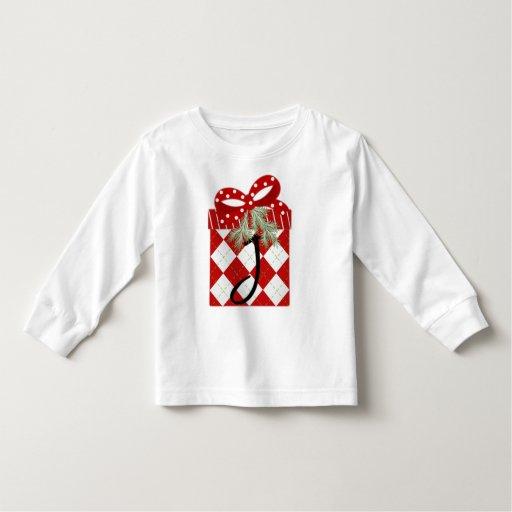 Inicial J del regalo del navidad T Shirts