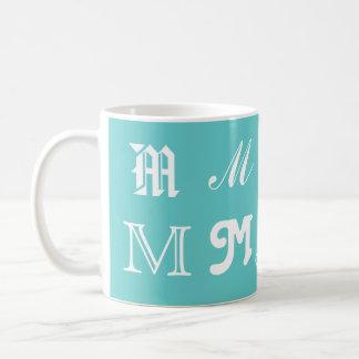 """Inicial """"M de la aguamarina Tazas De Café"""