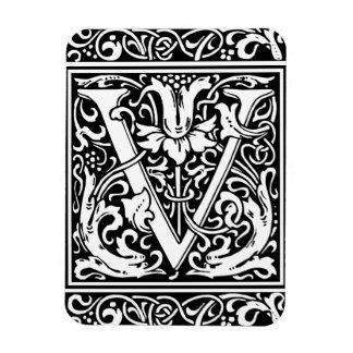 Inicial medieval del vintage del monograma de la imanes de vinilo
