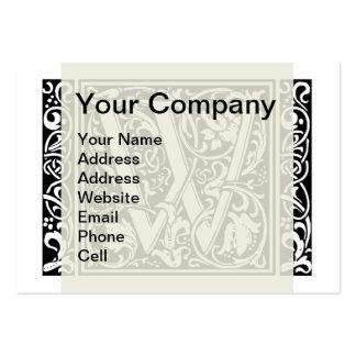 Inicial medieval del vintage del monograma de la tarjetas de visita grandes