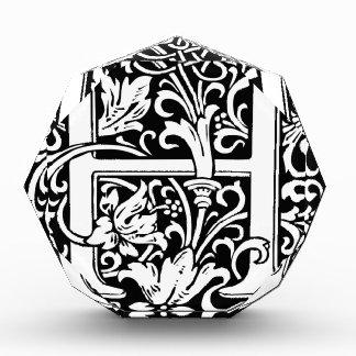 Inicial medieval del vintage del monograma de la