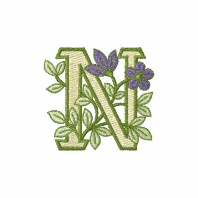 Inicial N del monograma de la flor