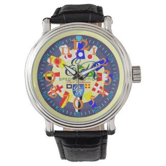 Inicial náutica del monograma del Brasil de la Relojes De Mano
