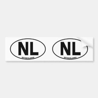 Inicial oval del código de identificación de la pegatina para coche