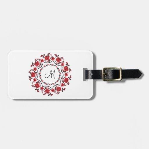 Inicial personalizada anillo del monograma de los  etiquetas maletas