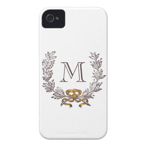 Inicial personalizada guirnalda del monograma del  iPhone 4 Case-Mate protector