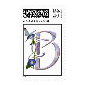Inicial preciosa B de la mariposa Sello Postal