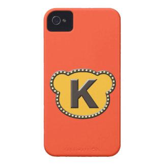 Inicial principal K del oso iPhone 4 Case-Mate Protector