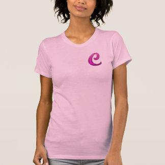 Inicial reluciente rosada - C Camiseta