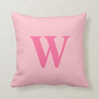 Inicial rosada personalizada cojín