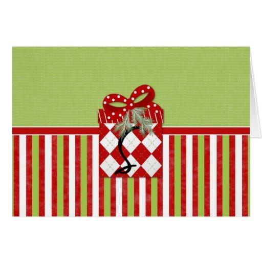 Inicial S del regalo del navidad Tarjeta De Felicitación