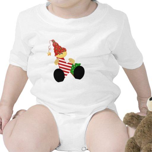 Inicial W del duende del navidad Camisetas