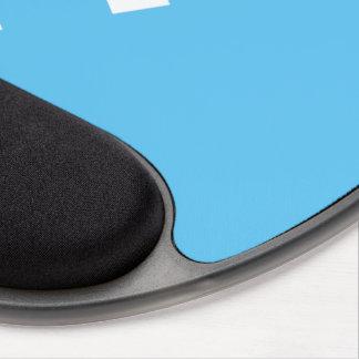 Iniciales azules claras elegantes y mínimas de alfombrilla de raton con gel