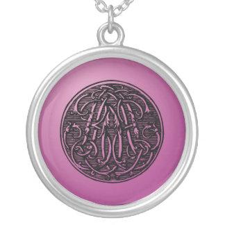 Iniciales 'BD del monograma del vintage Collar Personalizado