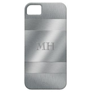 Iniciales cepilladas frescas de la mirada del meta iPhone 5 Case-Mate protectores