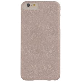 Iniciales color de rosa rosadas del personalizado funda para iPhone 6 plus barely there
