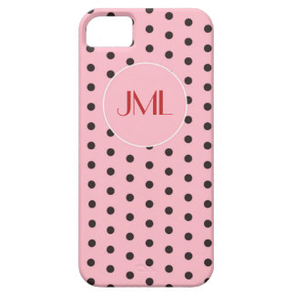 Iniciales cones monograma rosadas de Hollywood de iPhone 5 Case-Mate Coberturas