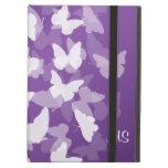 Iniciales de encargo de las mariposas púrpuras