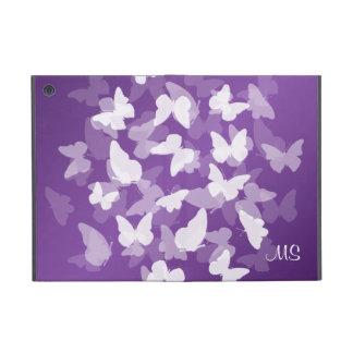 Iniciales de encargo de las mariposas púrpuras iPad mini protector