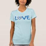 Iniciales de encargo V01G del corazón del amor del Camisetas