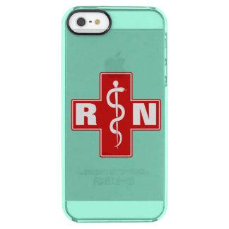 Iniciales de la enfermera funda clearly™ deflector para iPhone 5 de uncommon