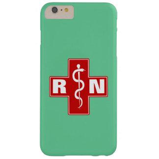 Iniciales de la enfermera funda para iPhone 6 plus barely there