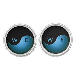 iniciales de yang del yin - turquesa gemelos