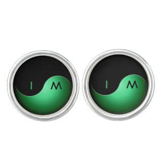 iniciales de yang del yin - verde gemelos