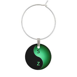 iniciales de yang del yin - verde identificador de copa
