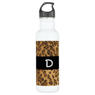 Iniciales del monograma del estampado leopardo D