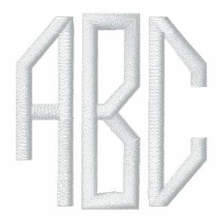 iniciales del monograma sudadera embordada