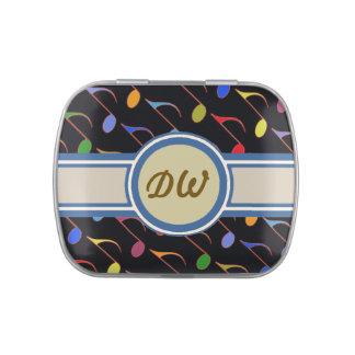 iniciales dulces de las notas musicales jarrones de dulces