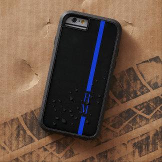 Iniciales finas del personalizado de Blue Line Funda De iPhone 6 Tough Xtreme
