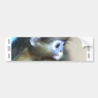 Iniciales marrones lindas NMB del mono ningunas es Pegatina Para Auto