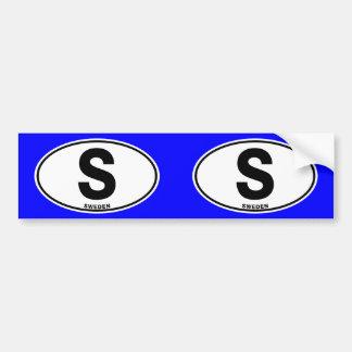 Iniciales ovales del código de identificación de pegatina para coche