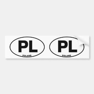 Iniciales ovales del código de identificación de l etiqueta de parachoque