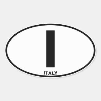 Iniciales ovales del código de identificación de l pegatinas