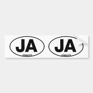 Iniciales ovales del código de identificación de pegatina para auto