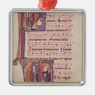 Iniciales 'P de Historiated Ornamentos De Navidad