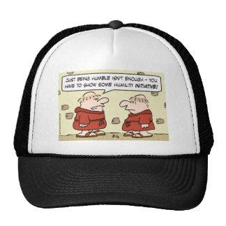 iniciativa de la humildad de los monjes gorras de camionero