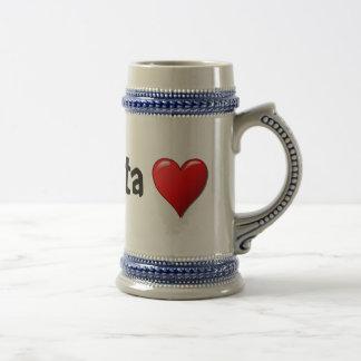 Iniibig kita - I love you in Tagalog Beer Stein