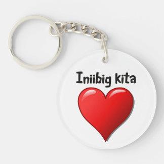 Iniibig kita - I love you in Tagalog Keychain