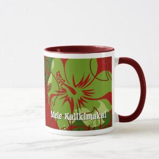 Iniki Point Hawaiian Christmas Red Mug