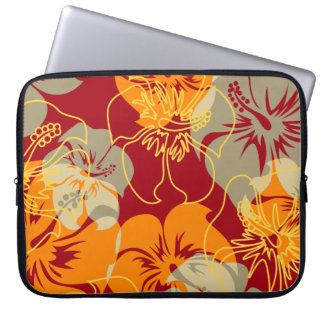 Iniki Point Hawaiian Hibiscus Neoprene Wetsuit Laptop Sleeves