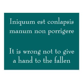 Iniquum est conlapsis postcard